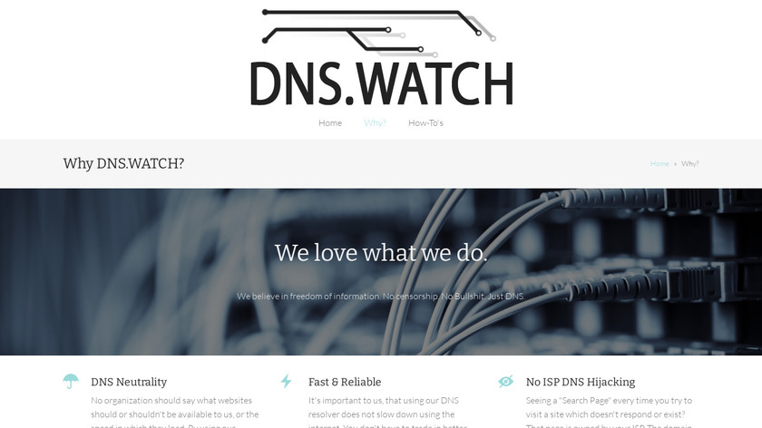 DNS.Watch Landing Page