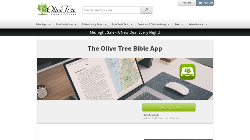 Bible by Olive Tree Landing Page