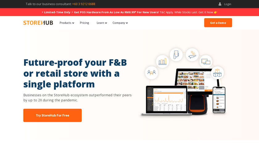 StoreHub Landing Page