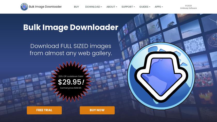 Bulk Image Downloader Landing Page
