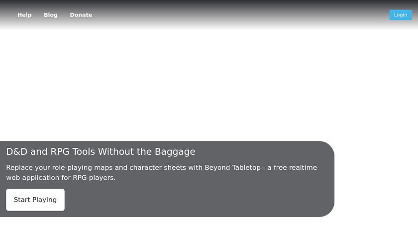 Beyond Tabletop Landing Page