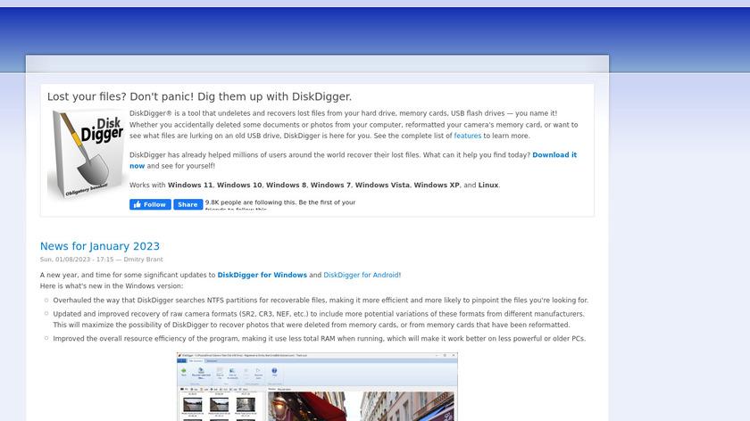 DiskDigger Landing Page