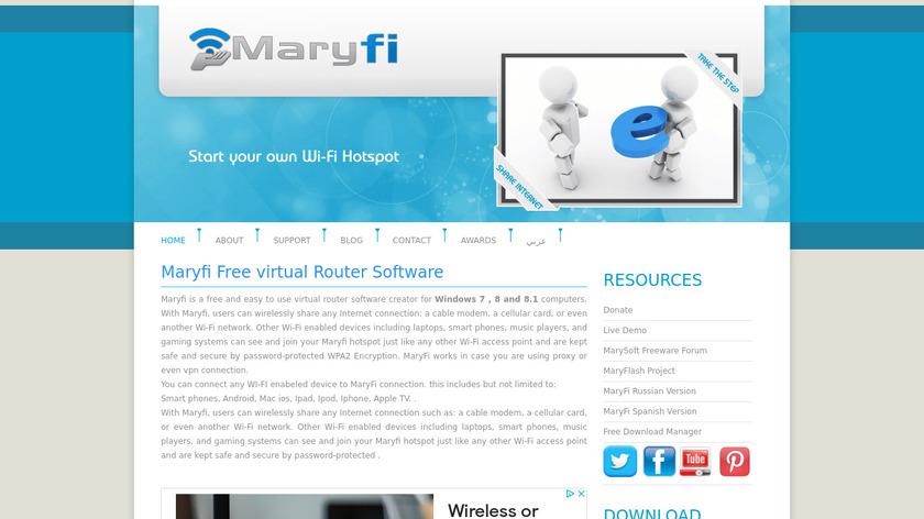Maryfi Landing Page