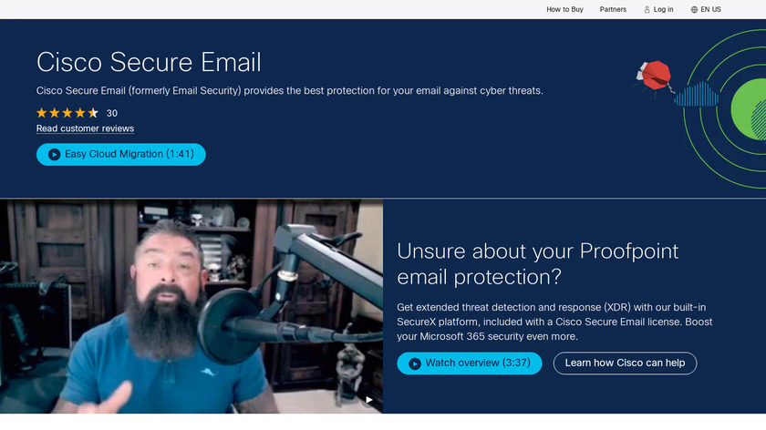 Cisco Email Security Landing Page
