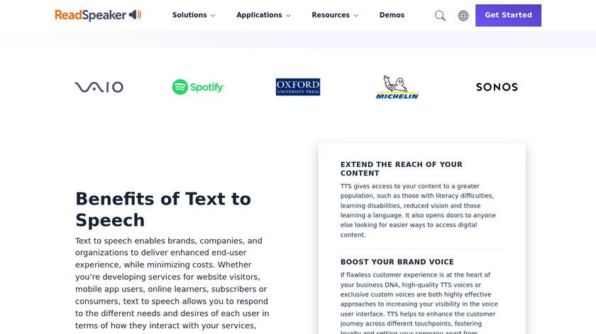 ReadSpeaker Landing Page