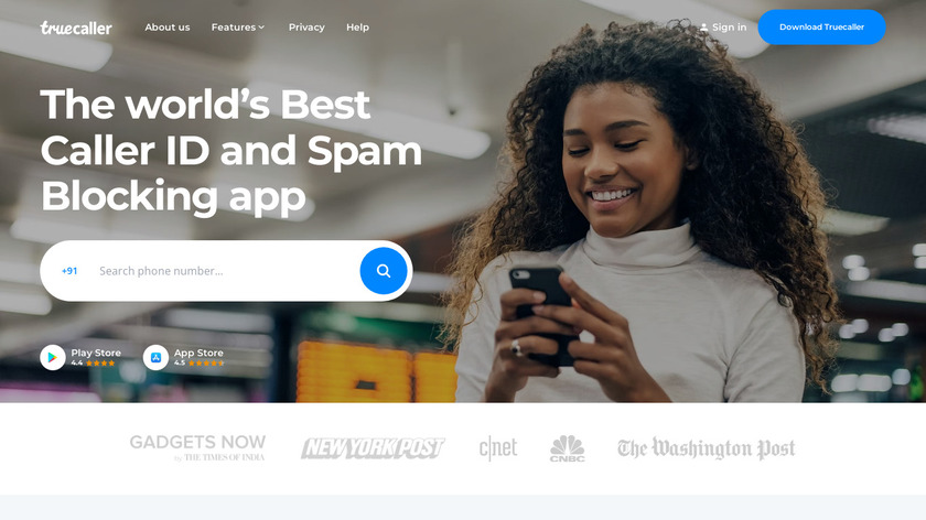Truecaller Landing Page