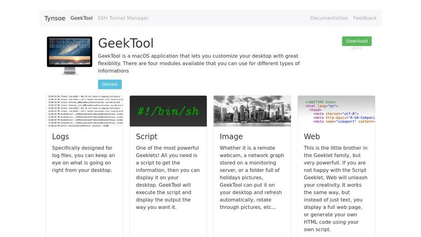 tynsoe.org GeekTool Landing Page