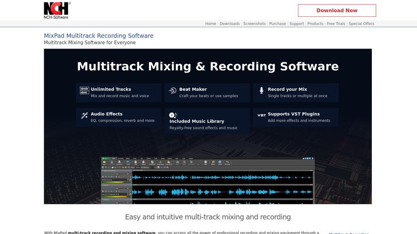 MixPad Landing Page