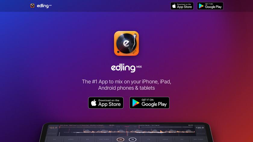 Edjing Landing Page