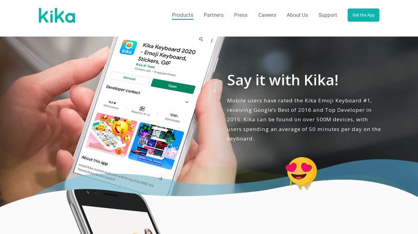 Kika Keyboard Landing Page