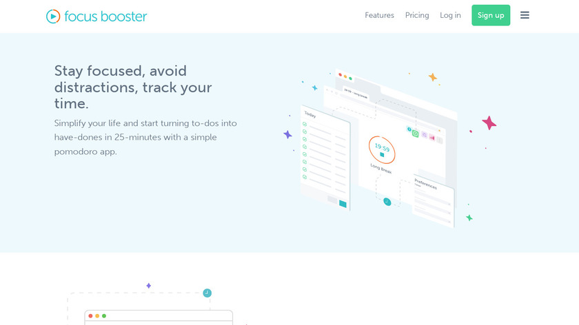 focus booster Landing Page