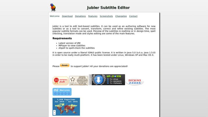 Jubler Landing Page