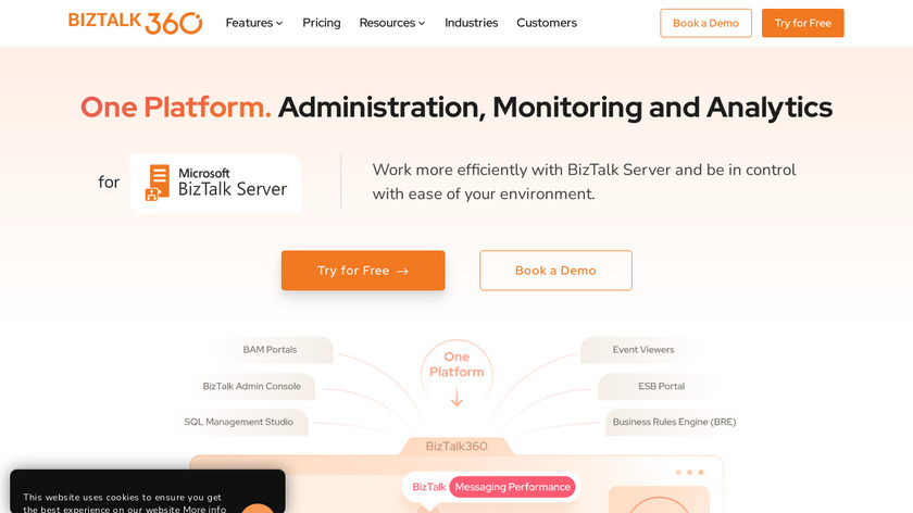 BizTalk360 Landing Page