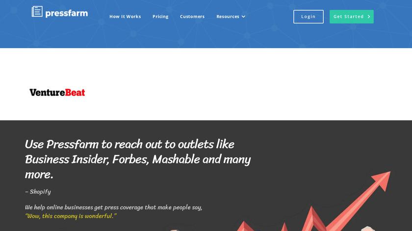 pressfarm Landing Page
