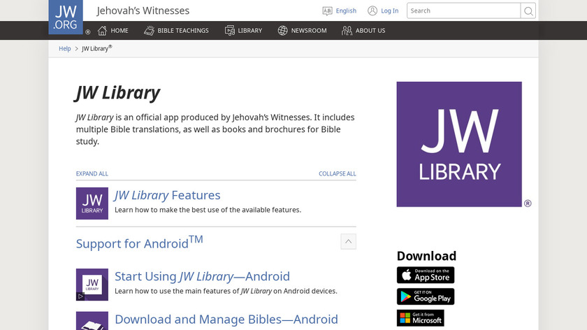 JW Library Landing Page