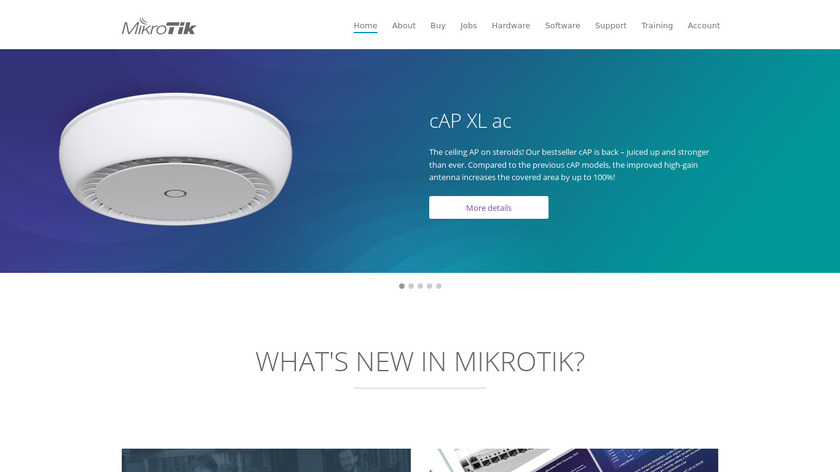 MikroTik RouterOS Landing Page