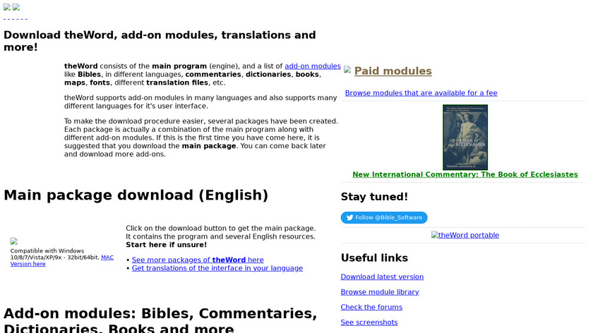 The Word Landing Page