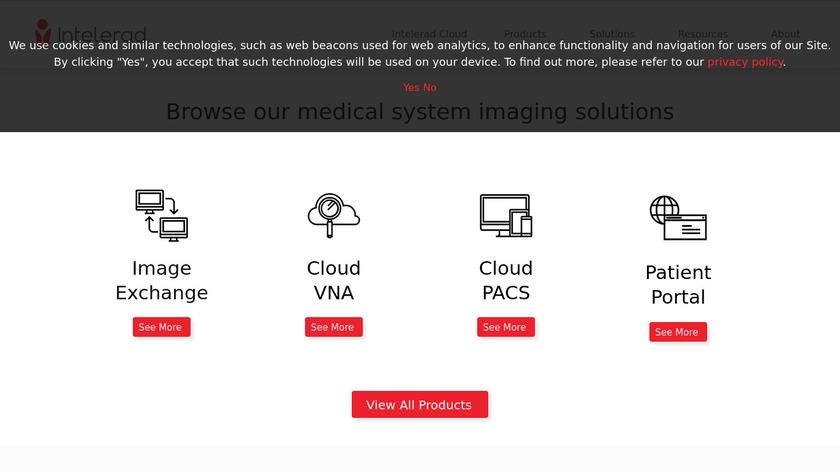 Ambra Health Landing Page