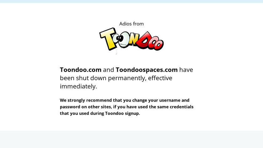 ToonDoo Landing Page