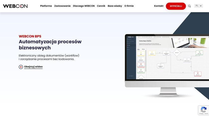 WEBCON Business Process Suite Landing Page