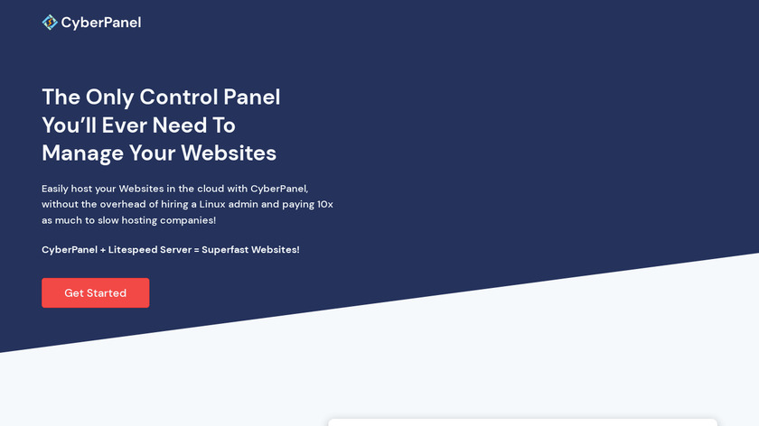CyberPanel Landing Page