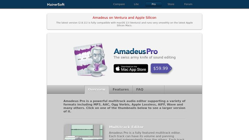 Amadeus Pro Landing Page