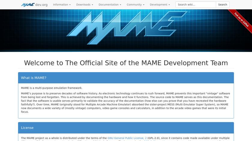 Mame Landing Page