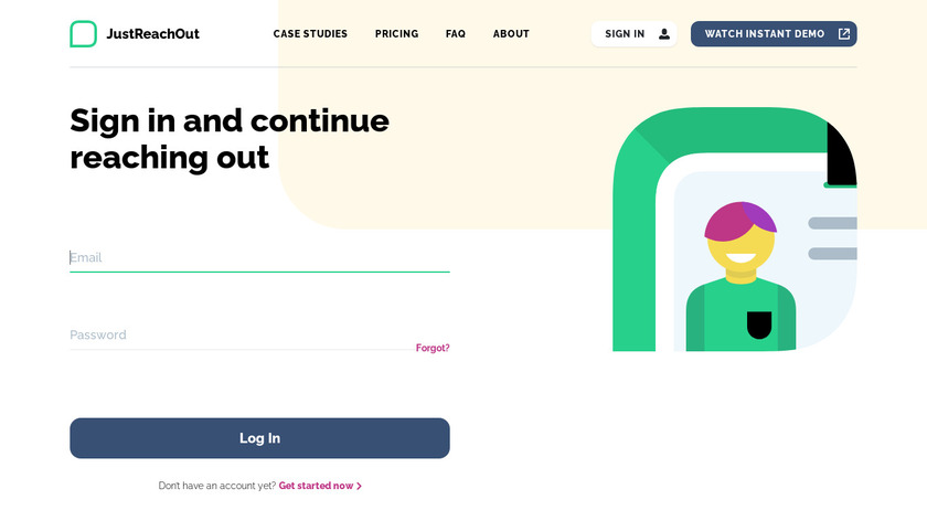 JustReachOut Landing Page