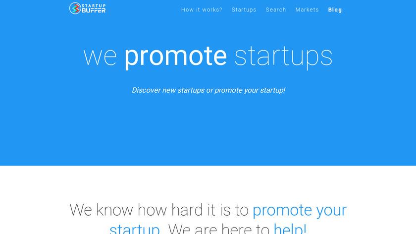 Startup Buffer Landing Page