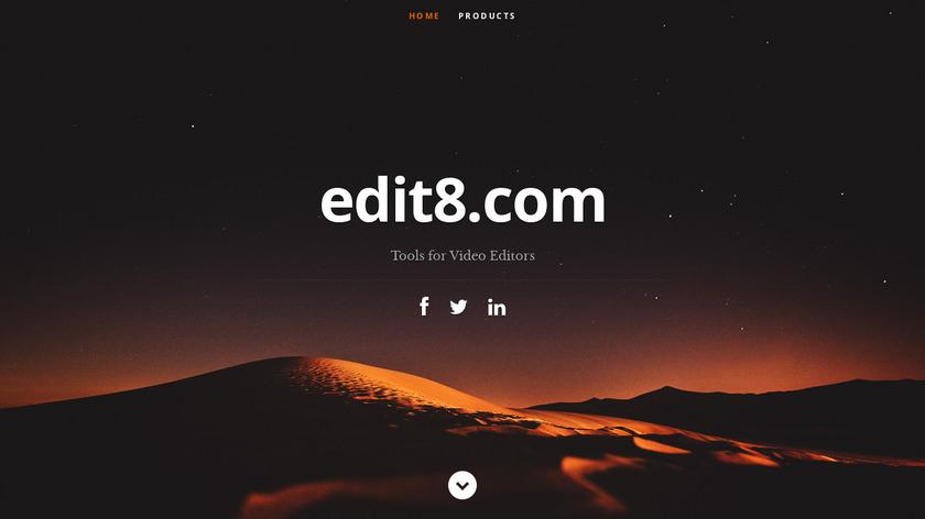 edit8 Landing Page