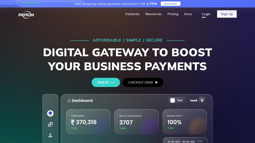PayKun Landing Page