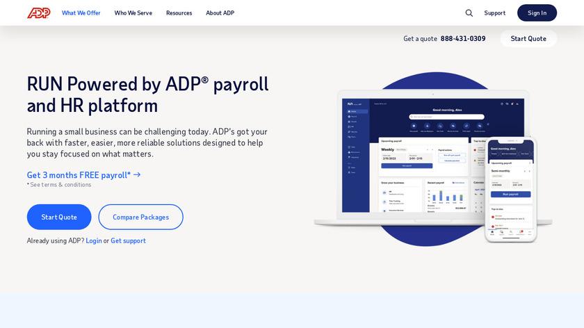 ADP RUN Landing Page