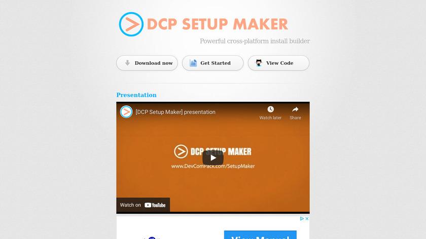 DCP Setup Maker Landing Page