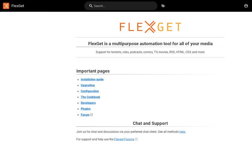 FlexGet Landing Page