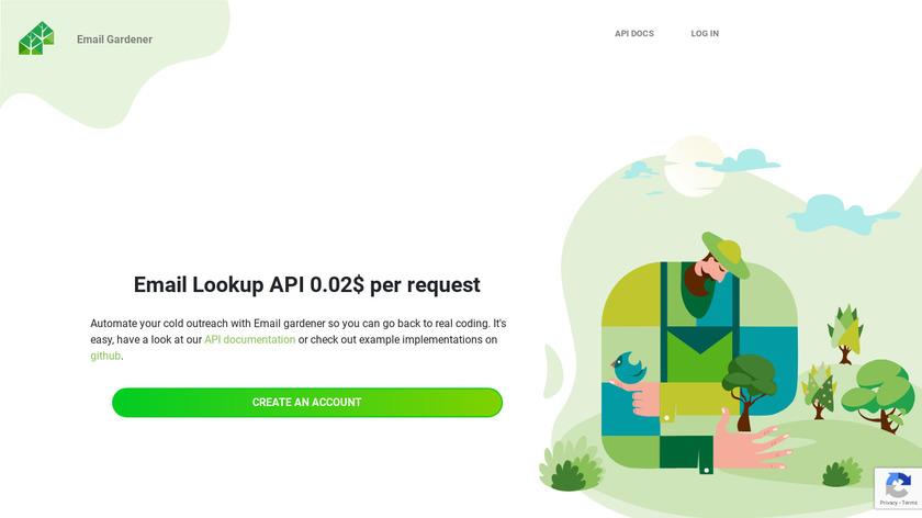 Email Gardener Landing Page