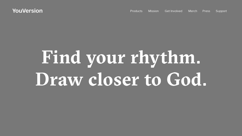 YouVersion Landing Page