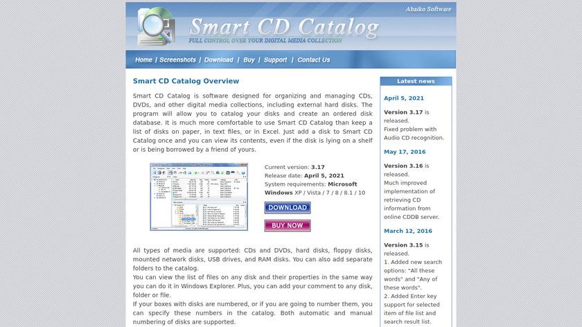 Smart CD Catalog Landing Page