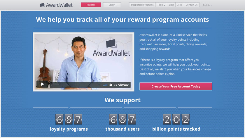 AwardWallet Landing Page
