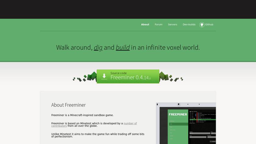 Freeminer Landing Page