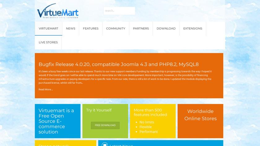 VirtueMart Landing Page