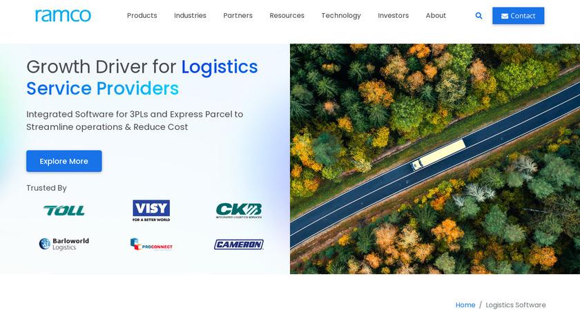 Ramco Logistics Landing Page
