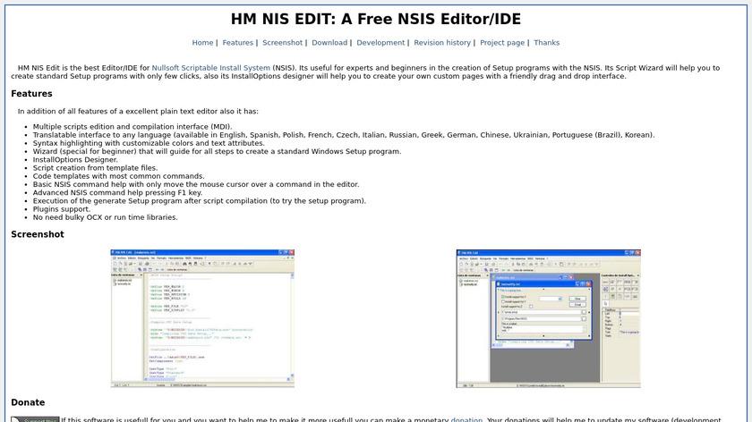 HM NIS EDIT Landing Page