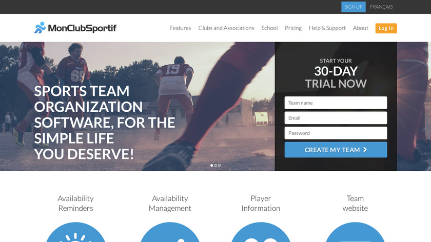 MonClubSportif Landing Page