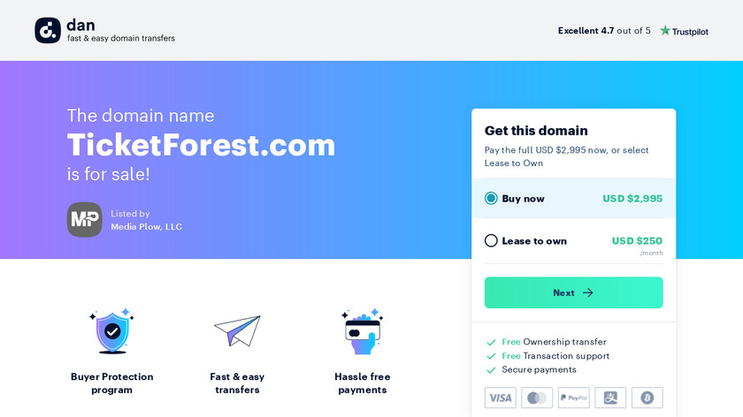 Ticket Forest Landing Page