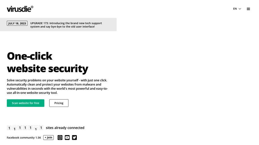 Virusdie Landing Page