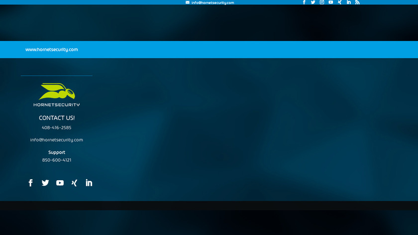 Hornetsecurity Landing Page
