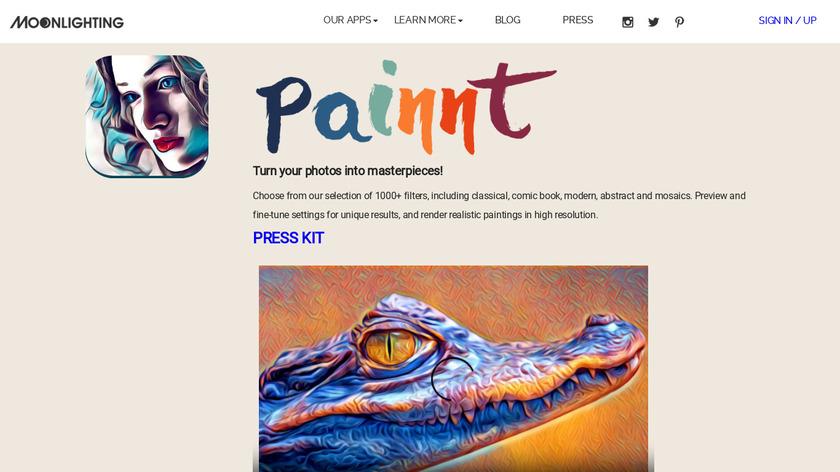 Moonlighting.io Painnt Landing Page