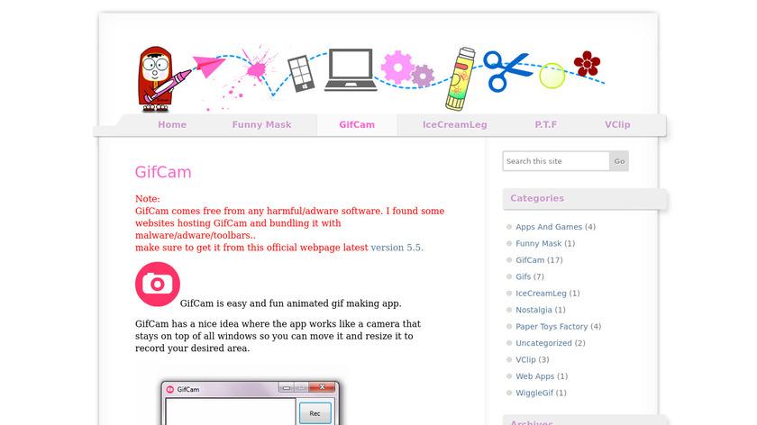 blog.bahraniapps.com GifCam Landing Page
