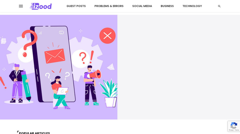 Instazood Landing Page