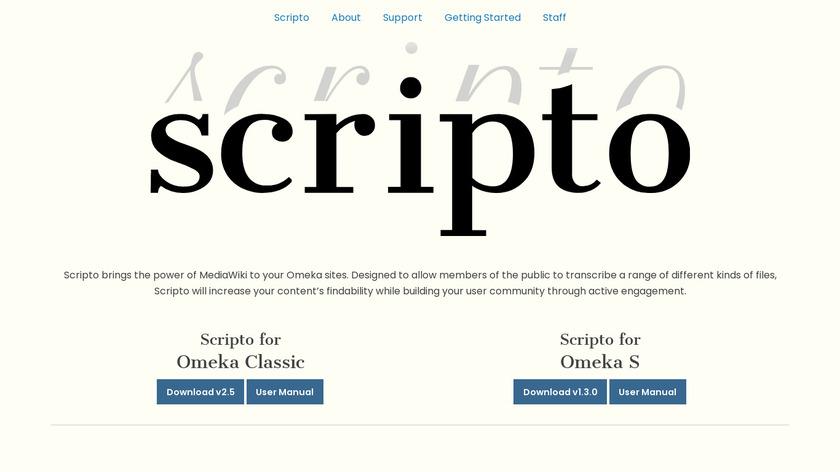 Scripto Landing Page